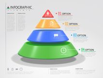 triangle 3D infographic illustration stock