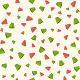Triangle 3d objects seamless geometric pattern Stock Images