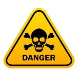 Danger skull vector sign stock illustration