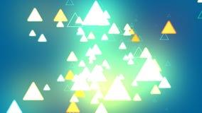 Triangle de fond bleu Photos stock