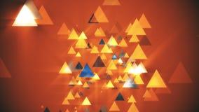 Triangle de fond orange Images stock