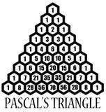 Triangle de maths Images libres de droits