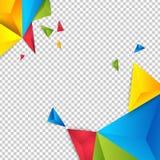 Triangle de polygone d'abrégé sur fond de couleur de vecteur Image libre de droits