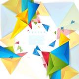 Triangle de polygone d'abrégé sur fond de couleur de vecteur Images libres de droits
