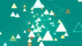 Triangle de turquoise abstraite Photos stock