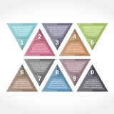 Triangle Design Elements with Numbers Stock Photo