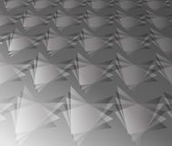 Triangle of dimension black and white tome picture in pattern Stock Photography