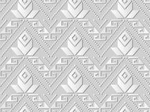 triangle Dot Line Flower croisé indigène d'art du livre blanc 3D Photo stock