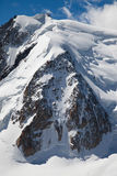 Triangle du Tacul. North face of the Mont Blanc du Tacul in the Mont Blanc massif, French Alps Stock Photos