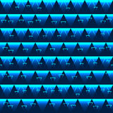 Triangle effect blue seamless pattern Royalty Free Stock Images