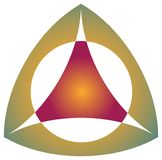 Triangle emblem Stock Photography