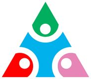 Triangle emblem Royalty Free Stock Photography