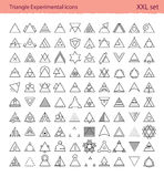 Triangle experimental icons Royalty Free Stock Photos