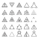 Triangle experimental icons Royalty Free Stock Photography