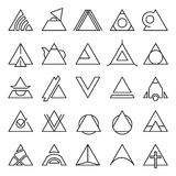 Triangle experimental icons Stock Images
