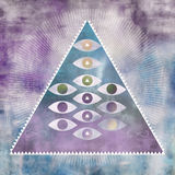 Triangle Eye Art Stock Image