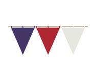 Triangle festoon design in united states style. Vector illustration Stock Image