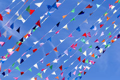 Triangle Flag String Pennant Royalty Free Stock Image