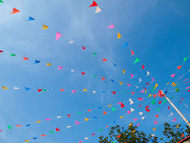 Triangle flags on festival day royalty free stock images