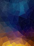 Triangle flat geometric colorful background Stock Image