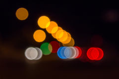 Triangle formed from night lights blur Stock Photos