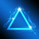 Triangle frame modern design Royalty Free Stock Photo
