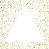 Triangle frame polka dots golden star holiday background. Vector.  Stock Illustration