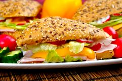 Triangle fresh sandwich Royalty Free Stock Photo