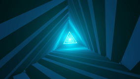 Triangle Future Space Tunnel. Science background stock video footage