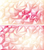 Triangle géométrique polygonale Ruby Backgrounds jaune rose rouge multicolore de polygone Photo libre de droits