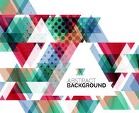 Triangle geometric abstract background Stock Photos