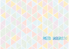 Triangle geometric abstract background pastel water colour style Royalty Free Stock Photos