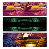 Triangle geometric abstract background Stock Images