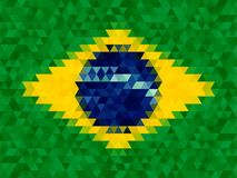 Triangle geometric background, Brazil flag concept Royalty Free Stock Photos