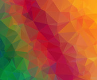 Triangle geometric colorful background Stock Photography