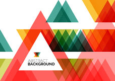 Triangle geometric concept Stock Images
