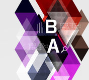 Triangle geometric infographic banner Stock Photos