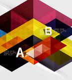 Triangle geometric infographic banner Stock Photography
