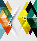 Triangle geometric infographic banner Royalty Free Stock Image