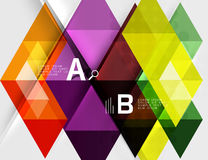 Triangle geometric infographic banner Royalty Free Stock Photography