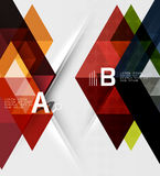 Triangle geometric infographic banner Royalty Free Stock Images