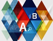 Triangle geometric infographic banner Stock Photo