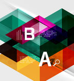 Triangle geometric infographic banner Stock Image