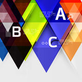 Triangle geometric infographic banner Royalty Free Stock Photos