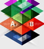 Triangle geometric infographic banner Stock Images