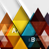 Triangle geometric infographic banner Royalty Free Stock Photo