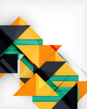 Triangle geometric shape abstract background Stock Image