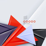 Triangle geometric shape abstract background Royalty Free Stock Image