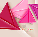 Triangle geometric shape abstract background Royalty Free Stock Photography