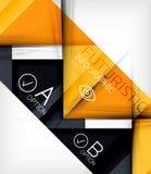 Triangle geometric shape infographic background royalty free illustration